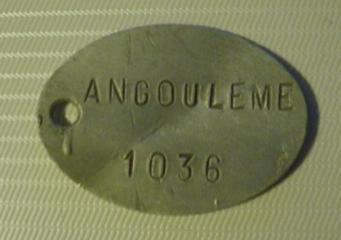 792 002 plaque d identite soulard gabriel 201eme ri prisonnier a soissons le 28 mai 1919
